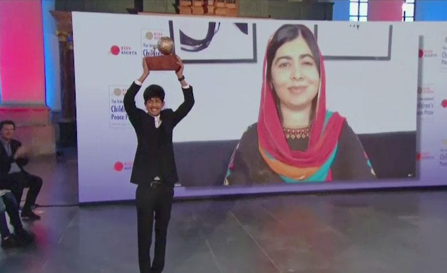 بنگلہ دیش کے 17 سالہ سعادت رحمٰن نے انٹرنیشنل چلڈرنز پیس پرائز جیت لیا