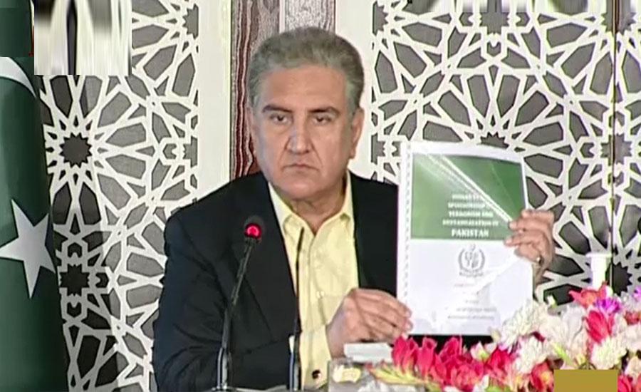 پاکستان میں تخریب کاری اور دہشتگردی میں بھارت ملوث ہے، شاہ محمود