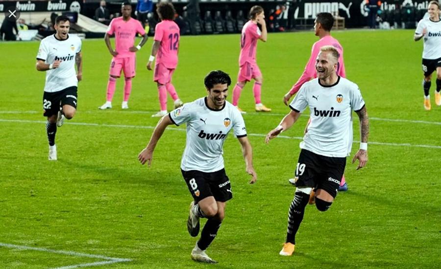 اسپینش فٹبال لیگ میں ویلنسیا نے ریال میڈرڈ کو شکست دیدی