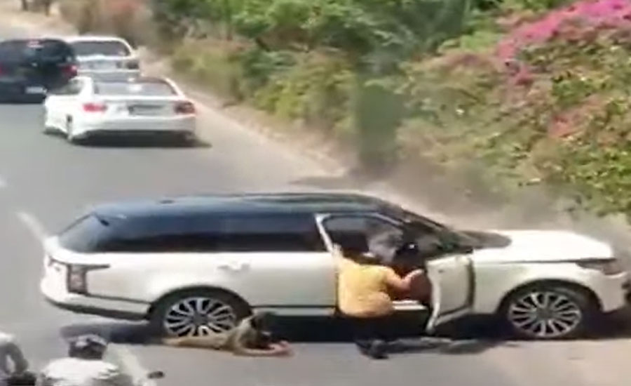 لاہور میں کینال روڈ پر گاڑی سے شہری کو کچلنے کی فوٹیج سامنے آ گئی