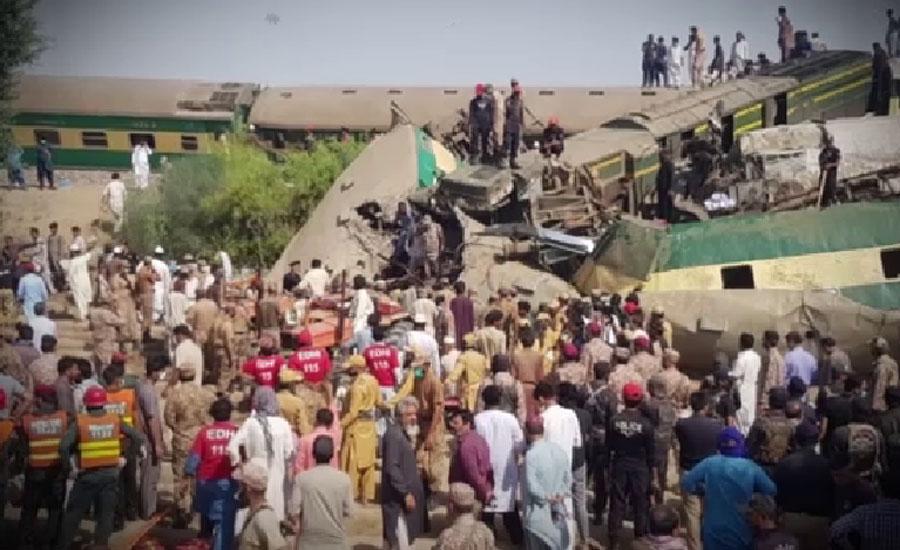 ڈہرکی کے قریب ٹرین حادثہ ، جاں بحق افراد کی تعداد 63 ہو گئی