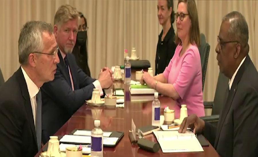 امریکی وزیر دفاع لائیڈ آسٹن سے نیٹو سیکرٹری جنرل کی ملاقات ، افغانستان سے فوجیوں کے انخلا سے متعلق تبادلہ خیال
