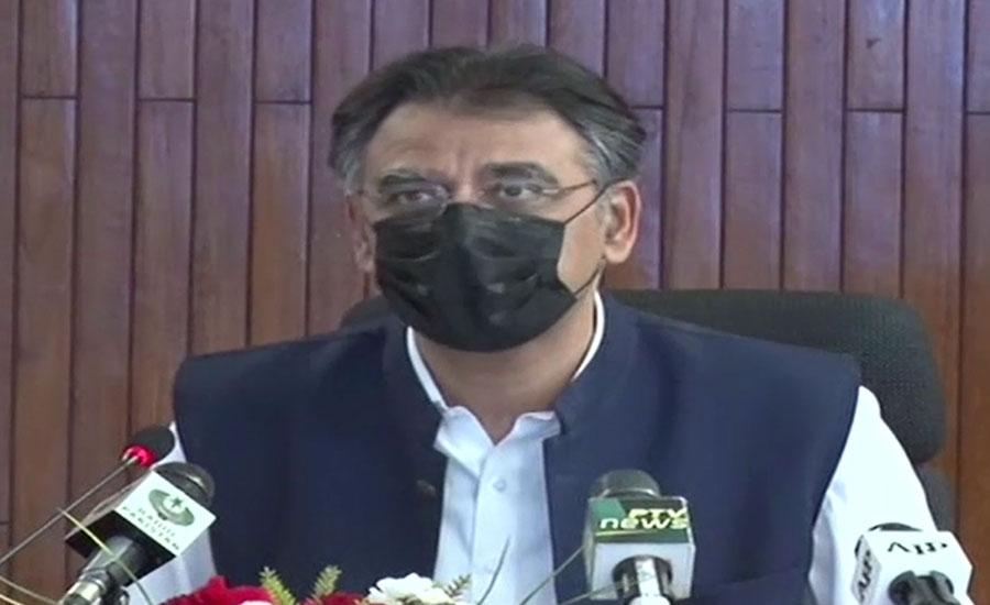 الزامات مسترد، اسد عمر نے وزیراعلیٰ سندھ کو وفاق کے سندھ میں تمام کام گنوا دیئے