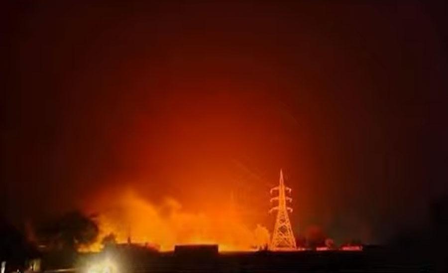 میانوالی میں کوٹ چاندنہ کالاباغ گرڈ اسٹیشن میں خوفناک آتشزدگی