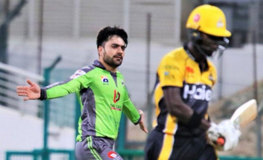 پی ایس ایل سکس ، لاہور قلندرز نے پشاور زلمی کو دس رنز سے شکست دے دی