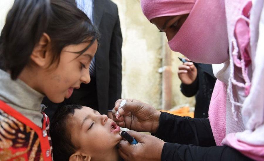 ملک بھر میں بچوں کو پولیو سے بچاو کے قطرے پلانے کی مہم پانچویں روز بھی کامیابی سے جاری