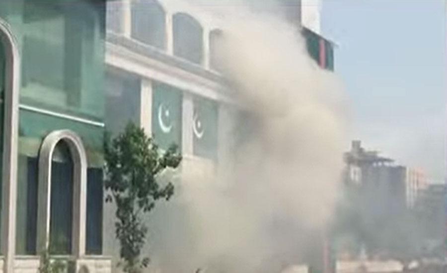 کراچی میں بلاول ہاؤس کے میڈیا سیل میں آگ لگ گئی