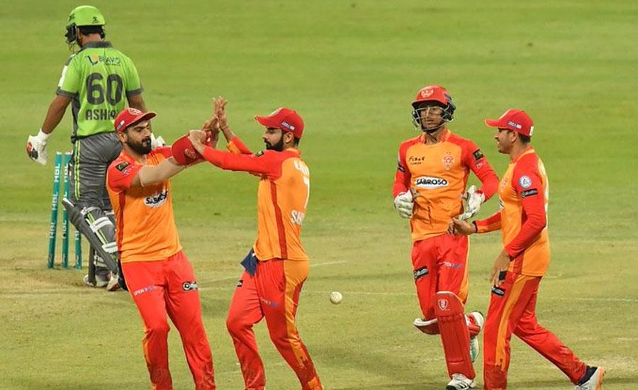 پی ایس ایل سکس، اسلام آباد یونائٹیڈ کی لاہورقلندرز کو 28 رنز سے شکست