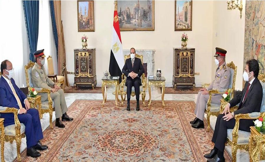 چیئرمین جوائنٹ چیفس آف اسٹاف کمیٹی جنرل ندیم رضا کا مصر کا دورہ