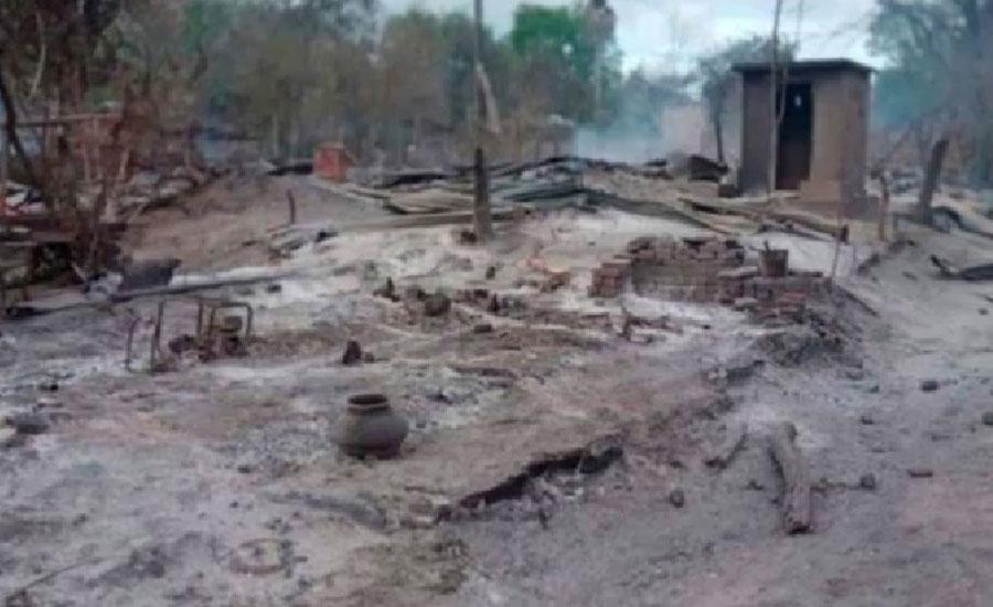 میانمر میں باغیوں اور سکیورٹی فورسز کے درمیان جھڑپ ، پورا گاؤں ہی جلا دیا گیا