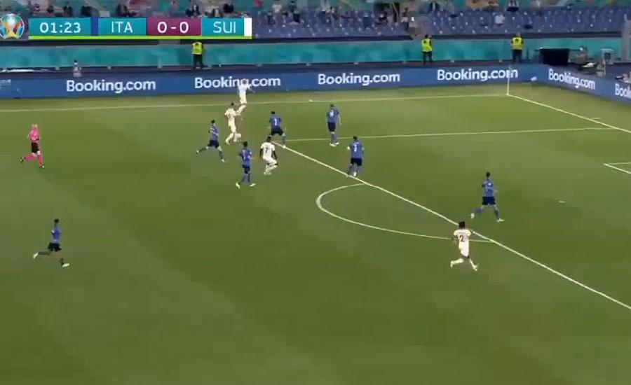 یورو کپ ، اٹلی کی ٹیم نے سوئٹزر لینڈ کو تین صفر سے ہرا دیا