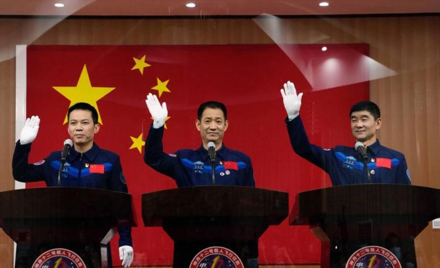 چین کے تین خلاباز سپیس سٹیشن کے لیے روانہ
