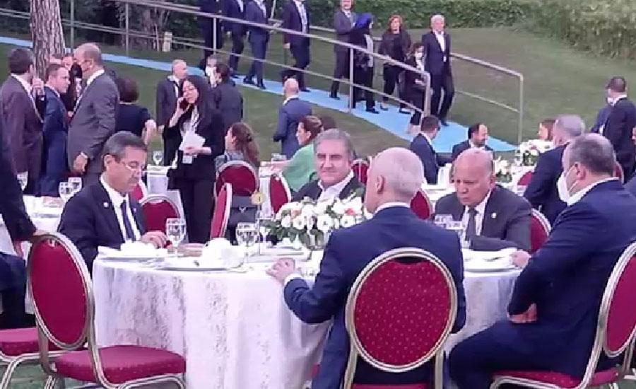 ترک صدر کا انطالیہ سفارتی فورم میں شرکت کیلئے آئے وفود کے اعزاز میں عشائیہ