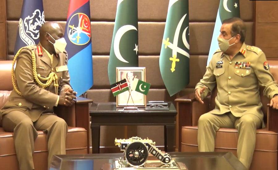 کینیا کے چیف آف ڈیفنس فورسز جنرل رابرٹ کا دورہ پاکستان، جنرل ندیم رضا سے ملاقات
