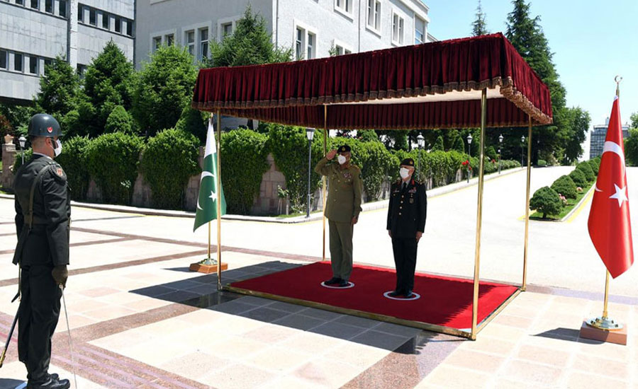 آرمی چیف جنرل قمر جاوید باجوہ کا ترکی کا ایک روزہ دورہ