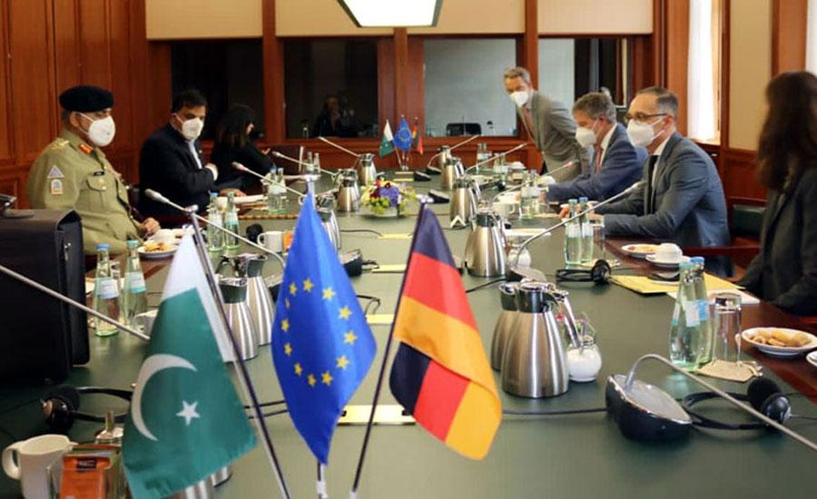آرمی چیف کی جرمن وزیر خارجہ ہیکوماس سے ملاقات ، باہمی دلچسپی کے امور پر تبادلہ خیال